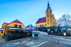 Vecchia città in Croazia del Nord, Samobor Immagine Stock Libera da Diritti