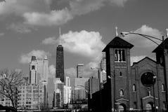 Vecchia città del Chicago Fotografie Stock
