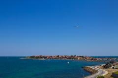 Vecchia città del mare Fotografia Stock
