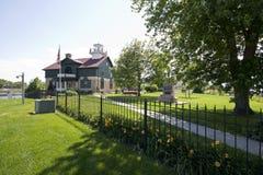 Vecchia città del Michigan, faro 1858 dell'Indiana fotografia stock libera da diritti