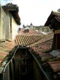 Vecchia città del tetto Fotografia Stock Libera da Diritti