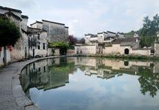 Vecchia città dell'acqua del villaggio di Hong Cun Fotografia Stock Libera da Diritti