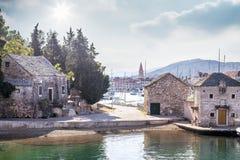 Vecchia città dell'isola di Hvar Fotografia Stock Libera da Diritti