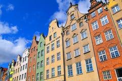 Vecchia città della città di Danzica, Polonia Immagine Stock Libera da Diritti