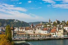 Vecchia città della città di Lucerna, Svizzera Fotografie Stock Libere da Diritti