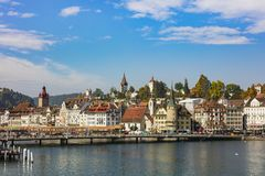 Vecchia città della città di Lucerna, Svizzera Fotografia Stock