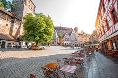 Vecchia città della città di Nurnberg, Germania immagine stock libera da diritti