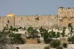 Vecchia città della parete di Gerusalemme Immagini Stock Libere da Diritti