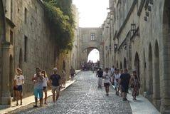 Vecchia città della Rodi immagine stock libera da diritti