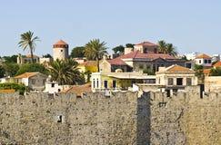 Vecchia città della Rodi Immagini Stock Libere da Diritti