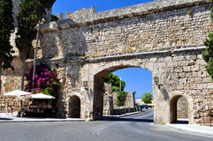 Vecchia città della Rodi. immagine stock