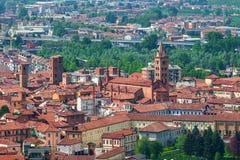 Vecchia città di alba, Italia Fotografia Stock