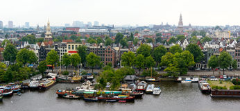 Vecchia città di Amsterdam Fotografia Stock Libera da Diritti