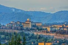 Vecchia città di Bergamo Immagine Stock