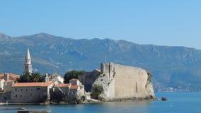 Vecchia città di Budua nel Montenegro Fotografia Stock