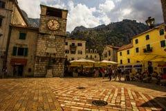 Vecchia città di Cattaro Fotografie Stock