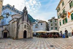 Vecchia città di Cattaro Immagine Stock