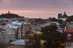 Vecchia città di Chelm, Polonia Fotografia Stock