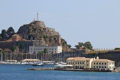 Vecchia città di Corfù della fortezza fotografia stock libera da diritti