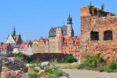 Vecchia città di Danzica Fotografia Stock Libera da Diritti