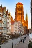 Vecchia città di Danzica Immagine Stock Libera da Diritti