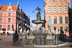Vecchia città di Danzica in Polonia Fotografia Stock
