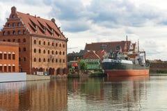 Vecchia città di Danzica, Polonia Immagini Stock