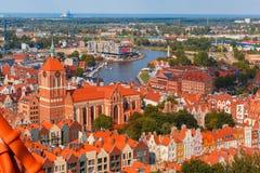 Vecchia città di Danzica, Polonia fotografie stock