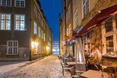 Vecchia città di Danzica, Polonia Fotografia Stock