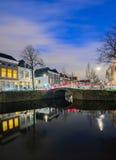 Vecchia città di Delft Fotografia Stock