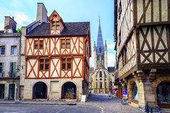 Vecchia città di Digione, Borgogna, Francia Fotografia Stock Libera da Diritti