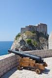 Vecchia città di Dubrovnik - fortezza Lovrijenac immagine stock libera da diritti
