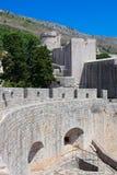 Vecchia città di Dubrovnik - fortezza Minceta immagini stock