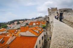 Vecchia città di Dubrovnik nel Croatia immagini stock