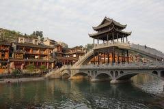 Vecchia città di Fenghuang Immagine Stock
