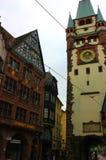 Vecchia città di Friburgo in Brisgovia in Germania fotografia stock