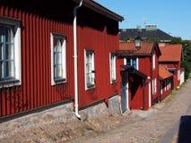 Vecchia città di Gävle Fotografie Stock