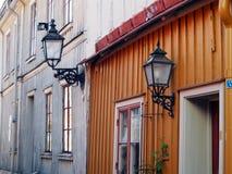Vecchia città di Gävle Fotografia Stock