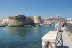 Vecchia città di Gallipoli Fotografia Stock Libera da Diritti