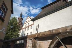 Vecchia città di Gengenbach con il san Marien della chiesa della città Immagine Stock Libera da Diritti