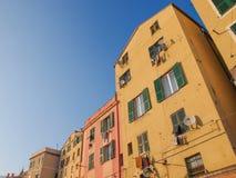 Vecchia città di Genova Fotografie Stock Libere da Diritti