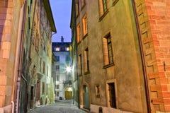Vecchia città di Ginevra Fotografie Stock Libere da Diritti