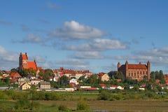 Vecchia città di Gniew Immagine Stock