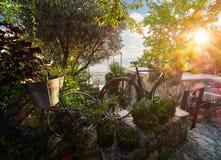 Vecchia città di Gornja Lastva vicino a Teodo, Montenegro fotografie stock libere da diritti