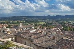 Vecchia città di Gubbio vicino a Peruggia (Italia) Fotografia Stock
