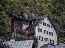 Vecchia città di Hallstatt, Austria immagini stock