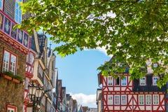 Vecchia città di Herborn, Germania Fotografia Stock