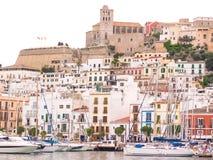Vecchia città di Ibiza Fotografia Stock