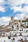 Vecchia città di Ibiza - Eivissa. La Spagna, Balearic Island fotografia stock libera da diritti