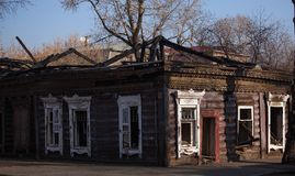 Vecchia città di Irkutsk Fotografia Stock